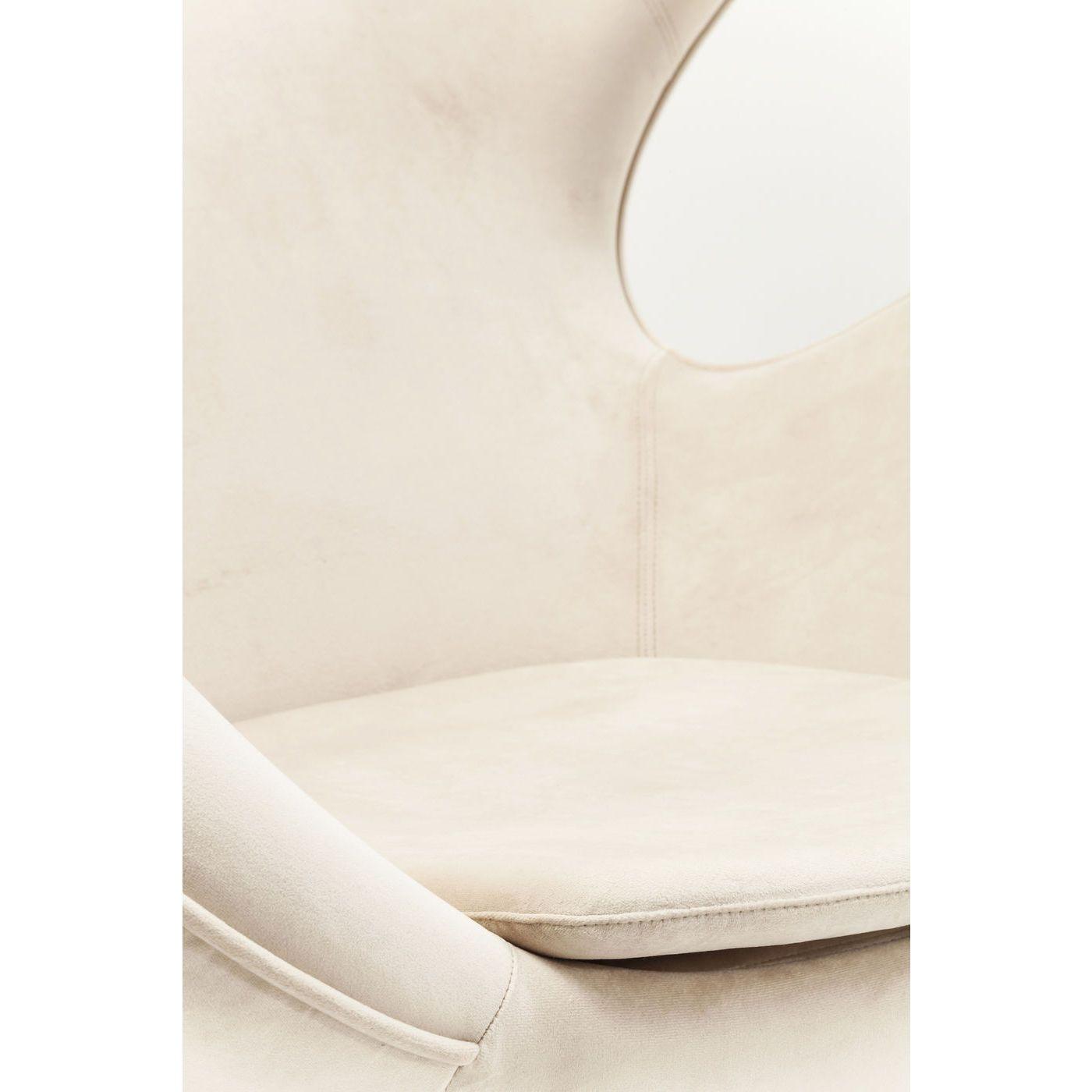 Swivel Chair Lounge Velvet Beige
