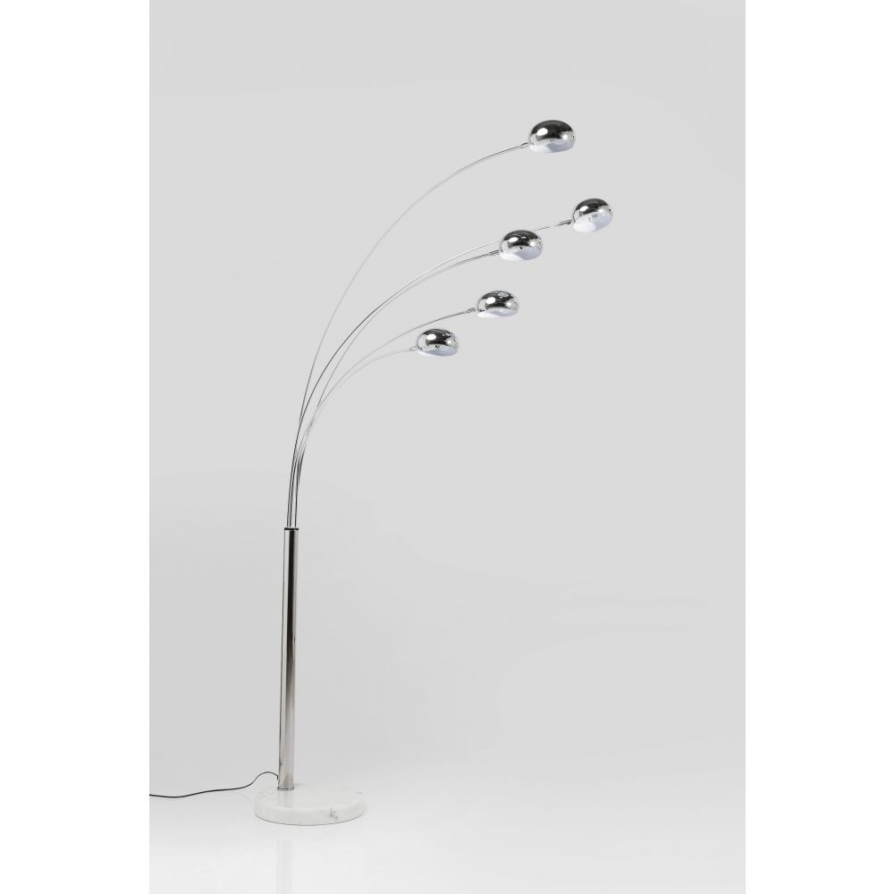 FLOOR LAMP FIVE FINGERSSILVERY