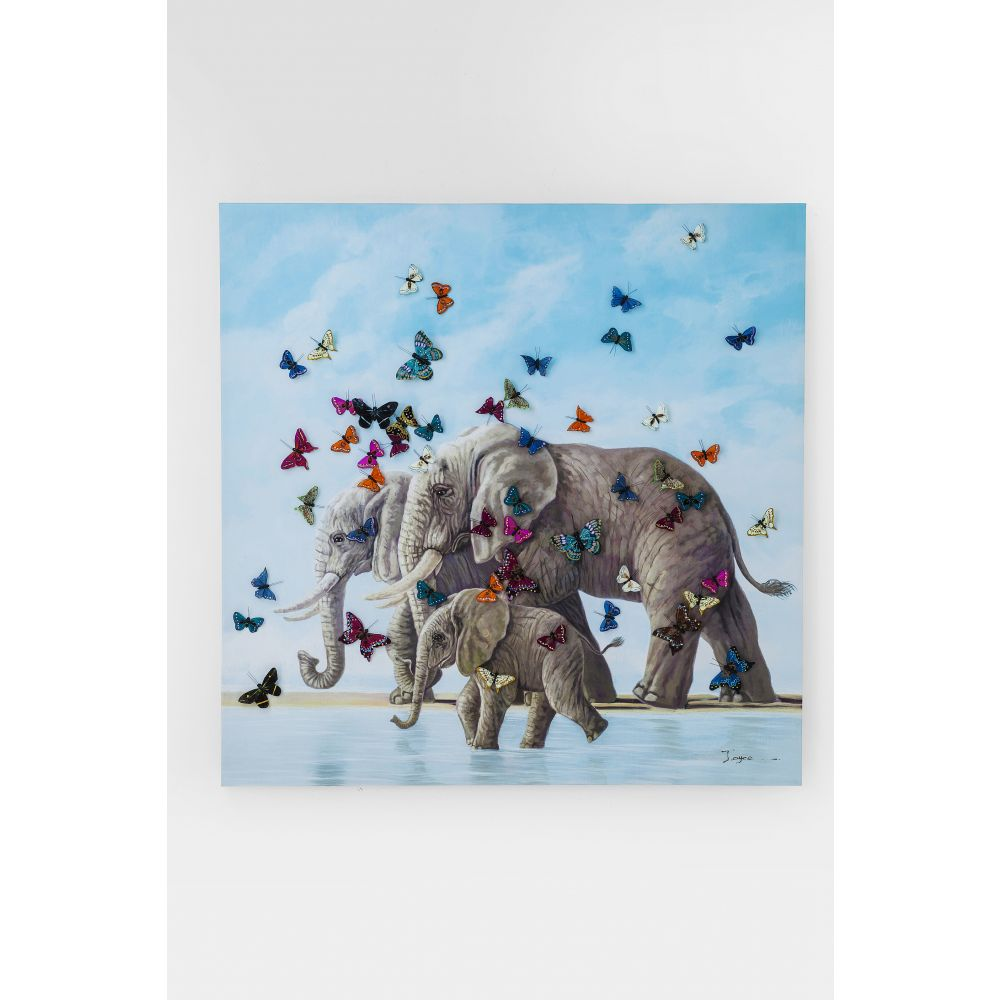 Gallery Touched Elefants With Butterfly