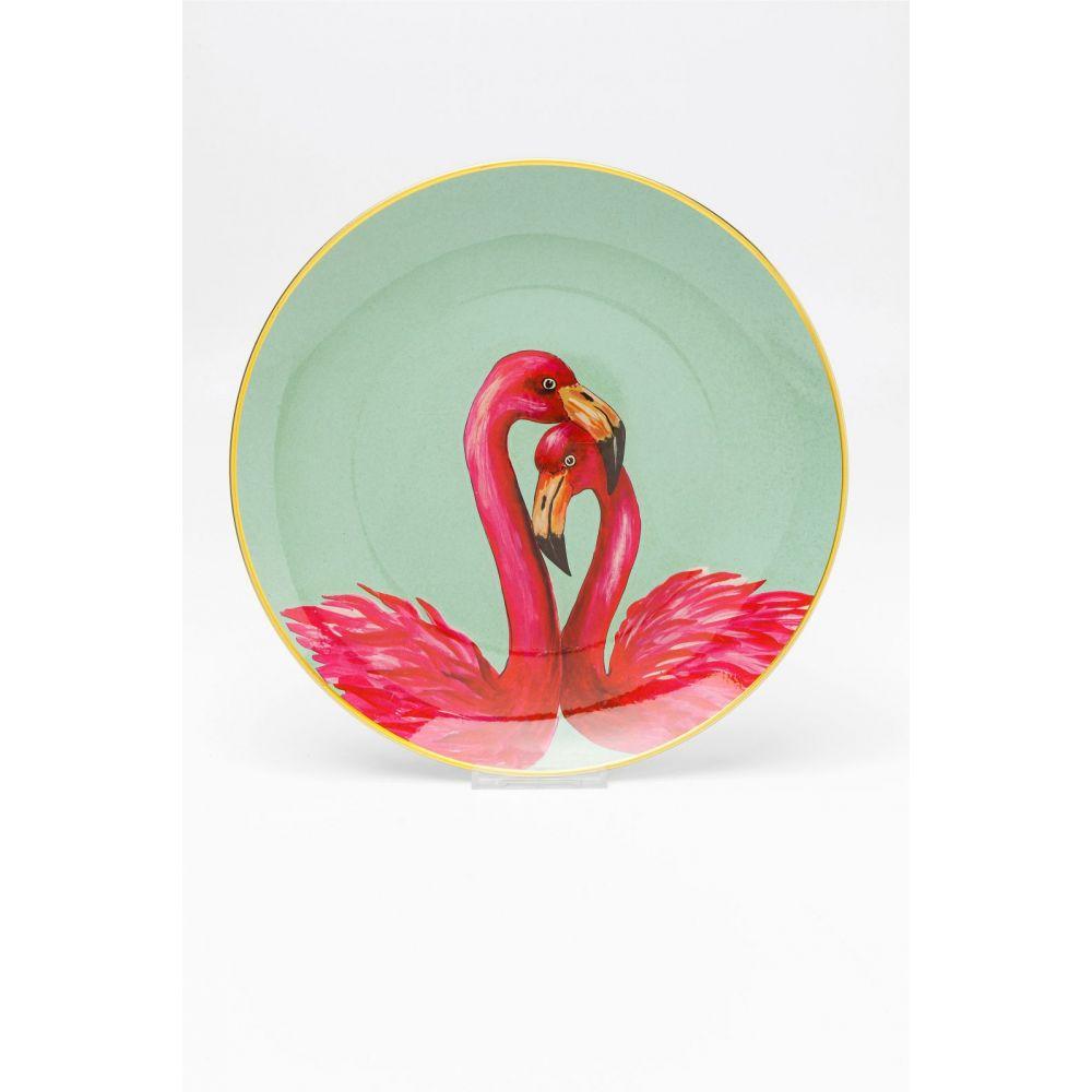 Deco Plate Flamingo Couple Dia27Cm