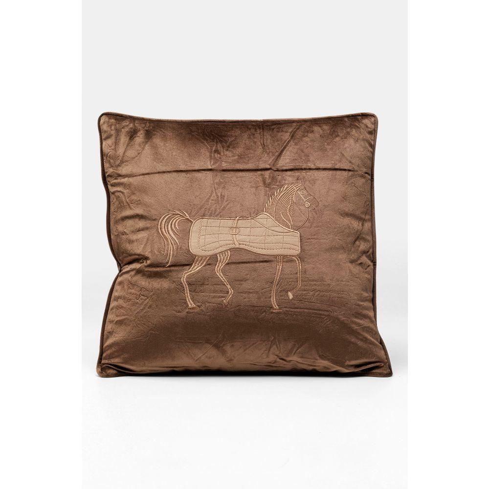 Cushion Applique Horse 50X28Cm