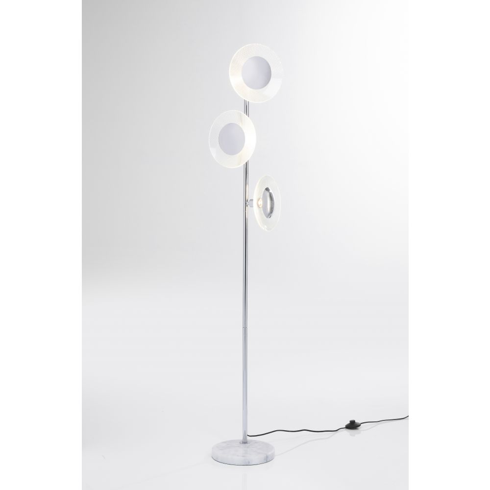 Floor Lamp Ufo Tre Silvery (Excluding Bulb)