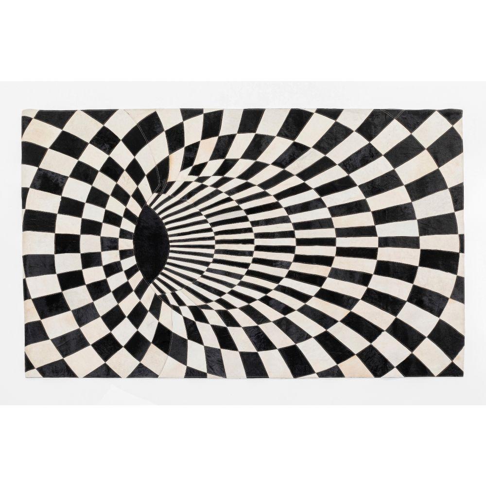 Carpet 3D Creative Black White 170X240