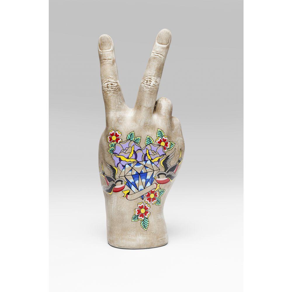 Deco Hand Victory Tattoo Flowers 36Cm
