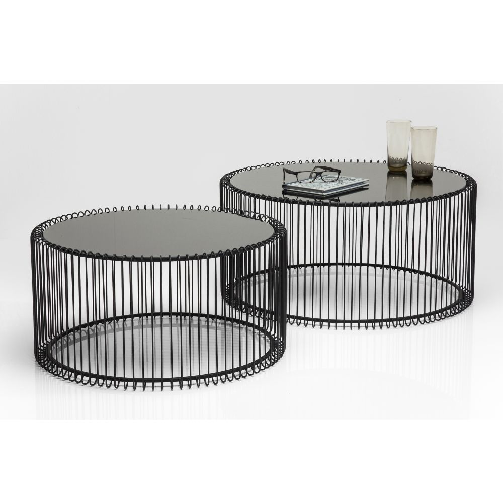 COFEE TABLE WIRE (2/SET) BLACK