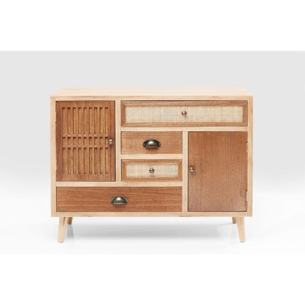 Dresser Samos 4 Drw 2 Doors 90Cm,Brown