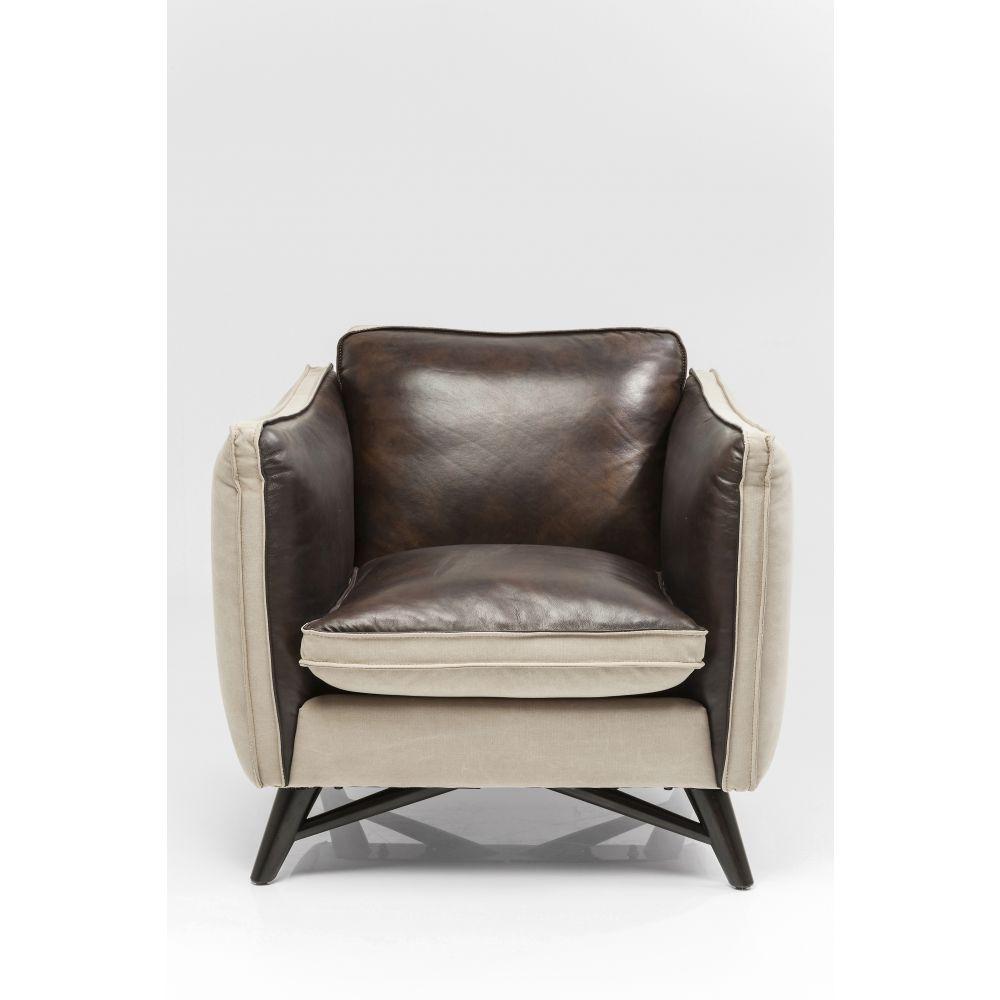 Armchair Fashionista Leather/Canvas