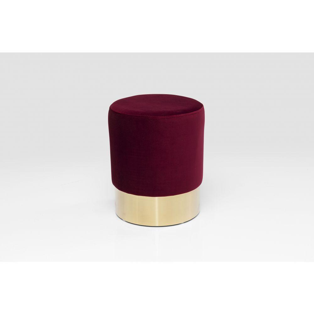 Stool Cherry Bordeaux Brass O35Cm