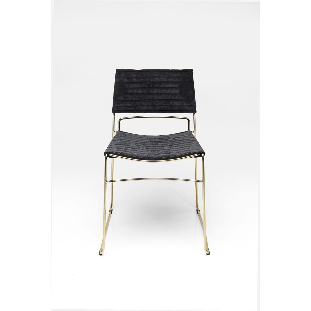 Dining Chair Hugo Black Gold,Fab
