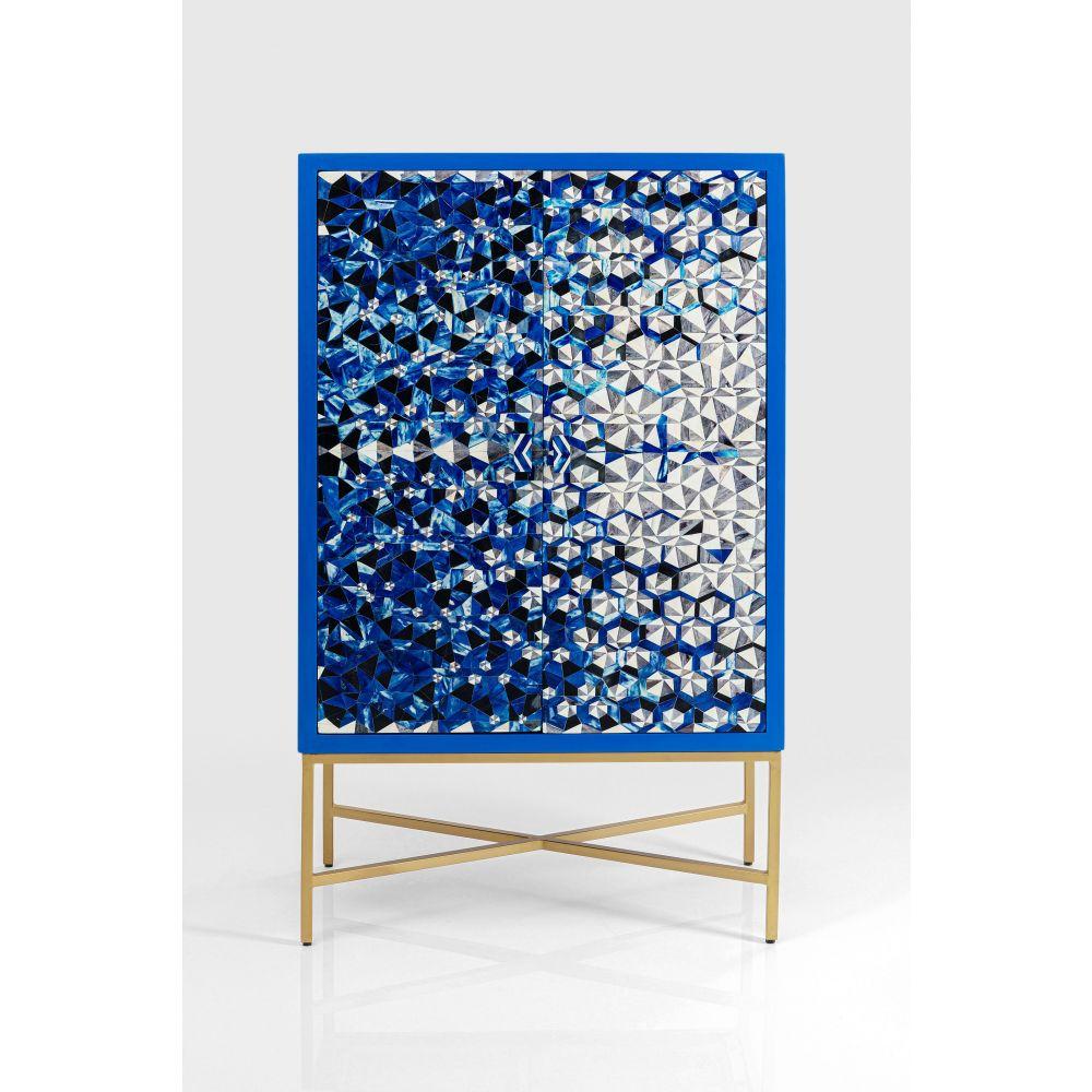 Bar Cabinet Fascino,Blue/Chrome