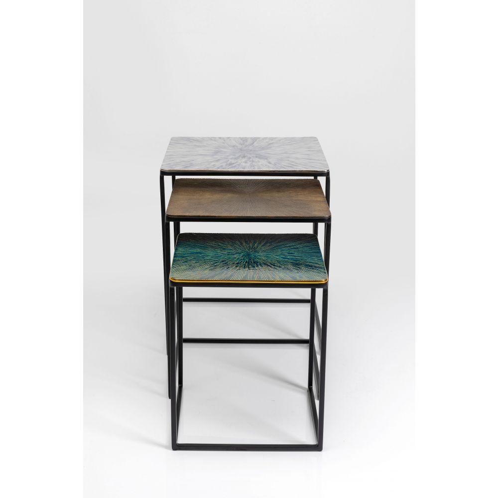 Side Table Ray Square (3/Set),Aluminium