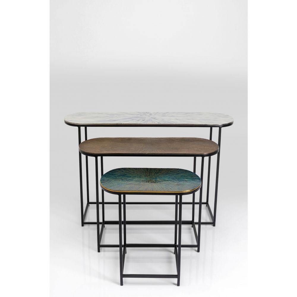 Side Table Ray Oval (3/Set),Aluminium