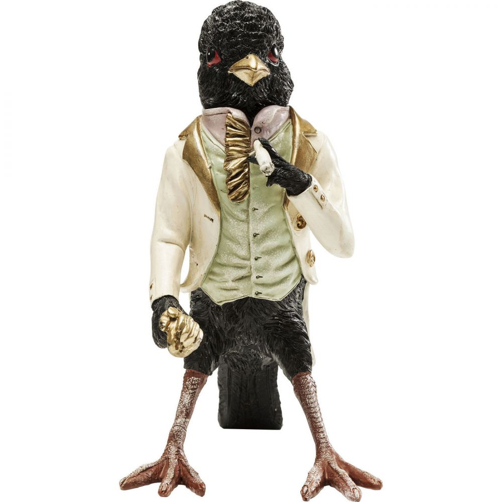 Deco Figurine Gentlemen Bird Black