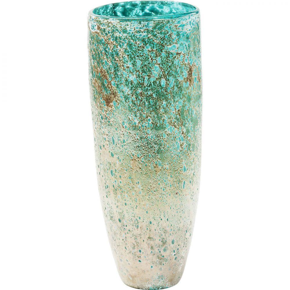 Vase Moonscape Turquoise 37cm