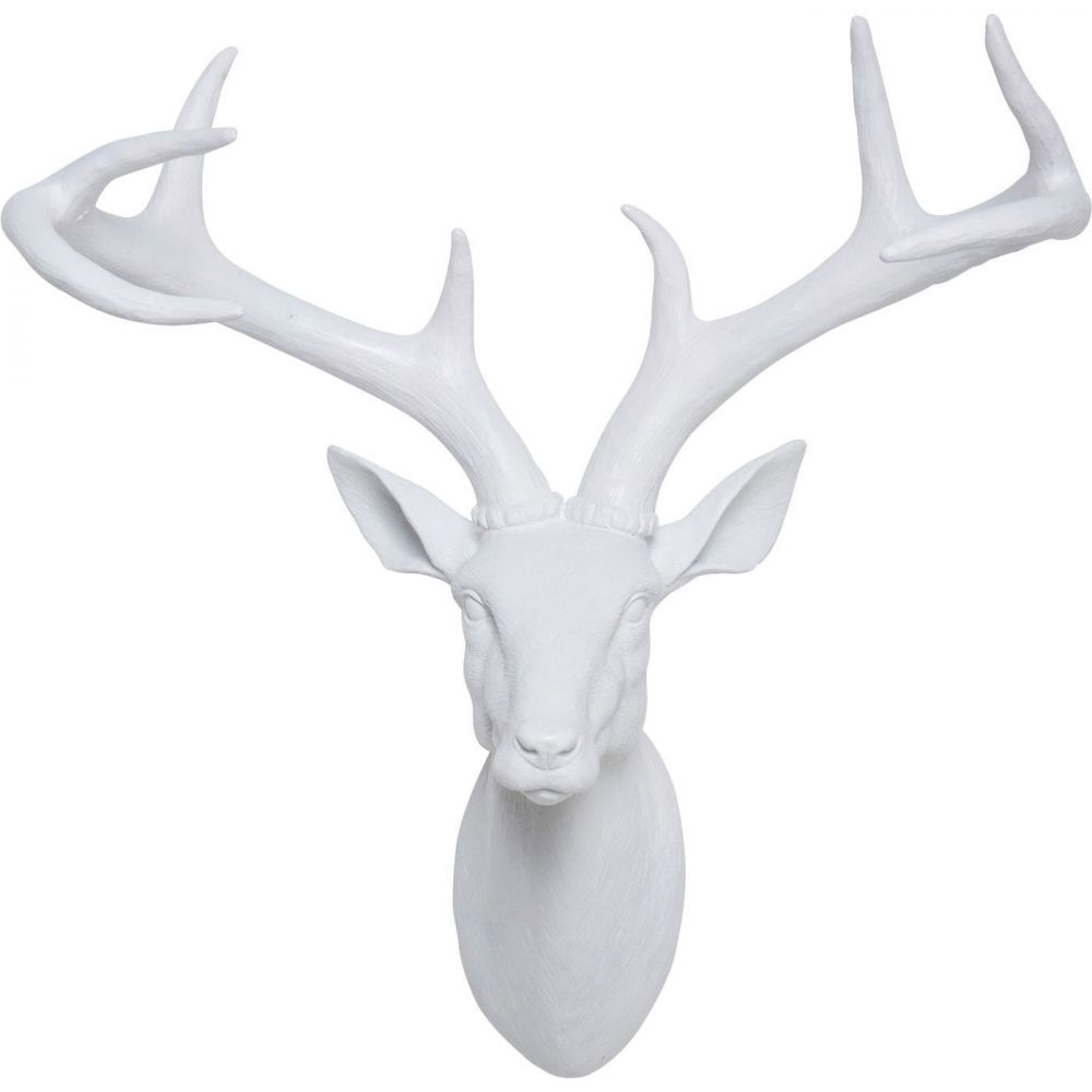 Deco Head Deer White