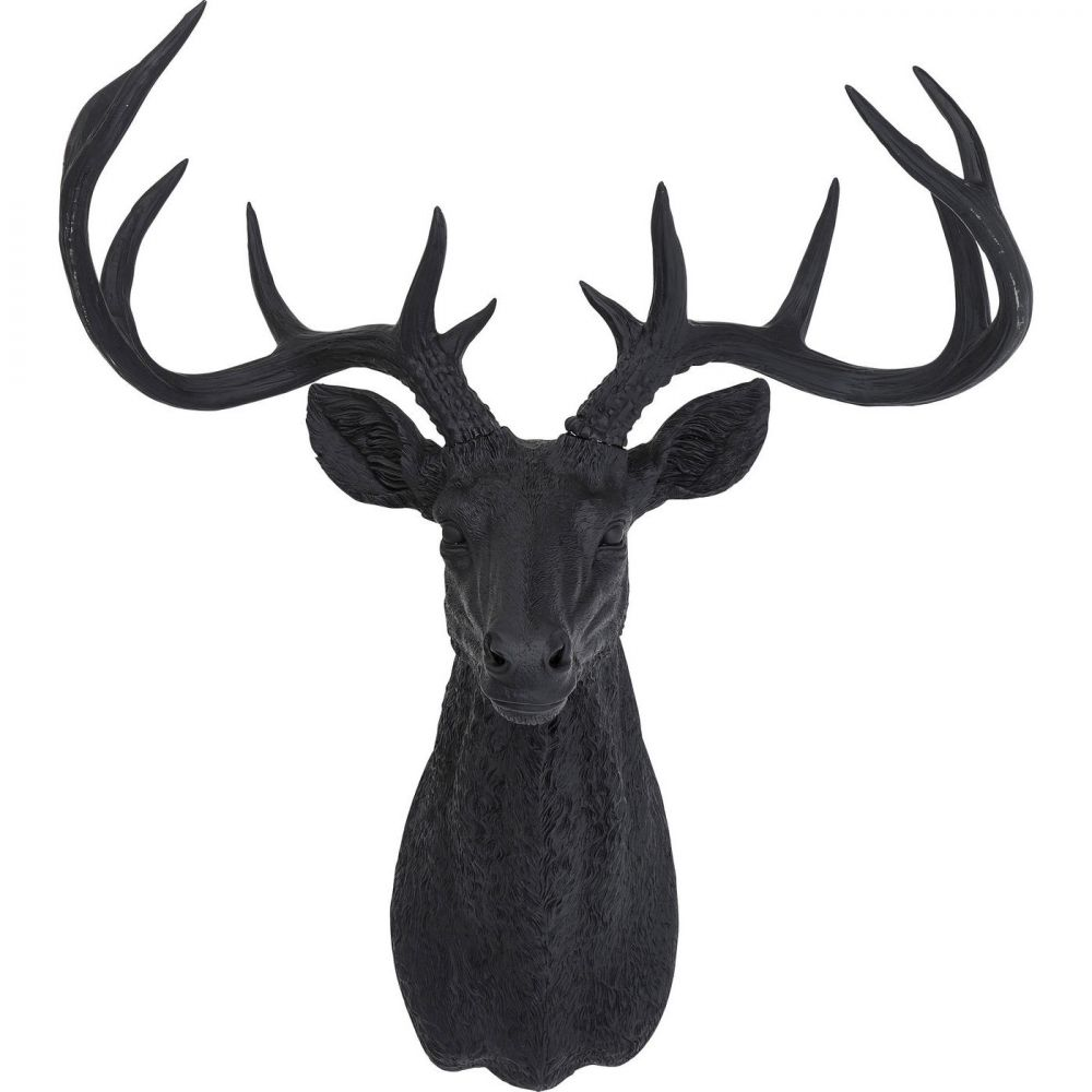 Deco Antler Deer Rubber Black