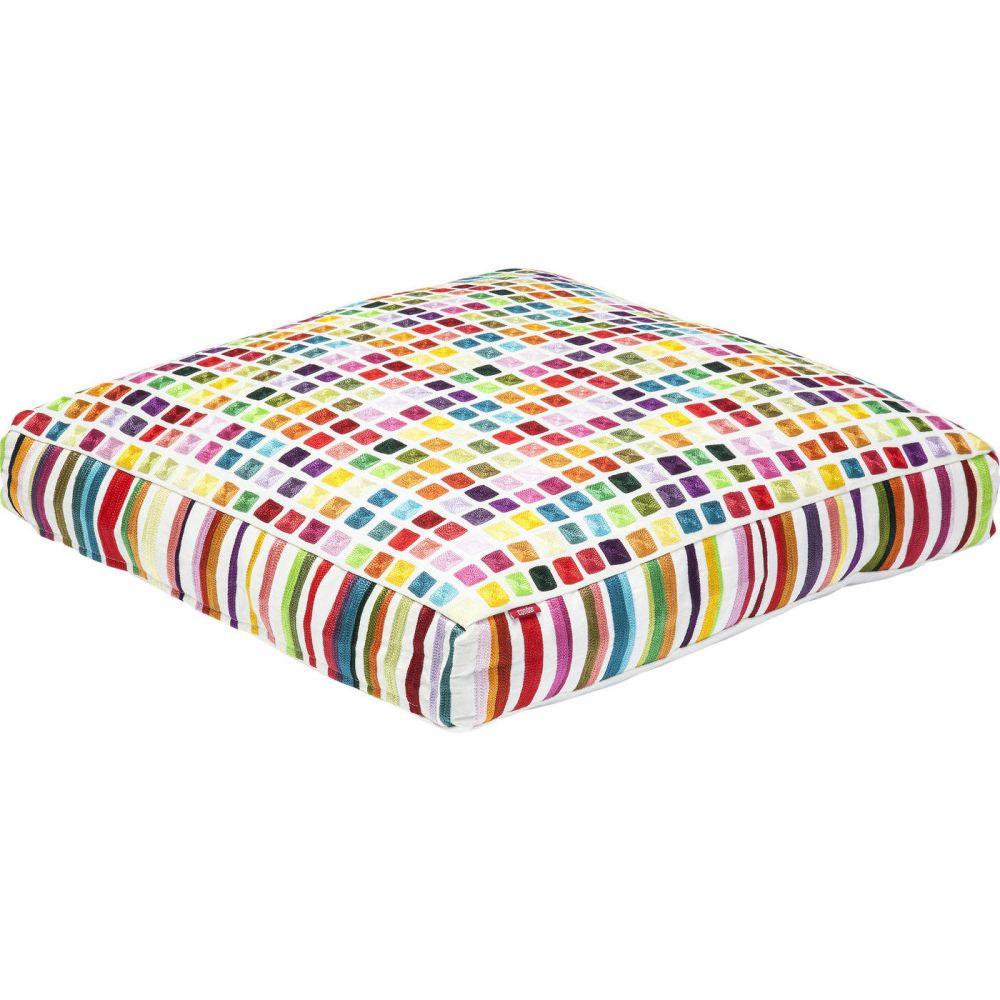 Floor Cushion Squares Multi Colour 70x
