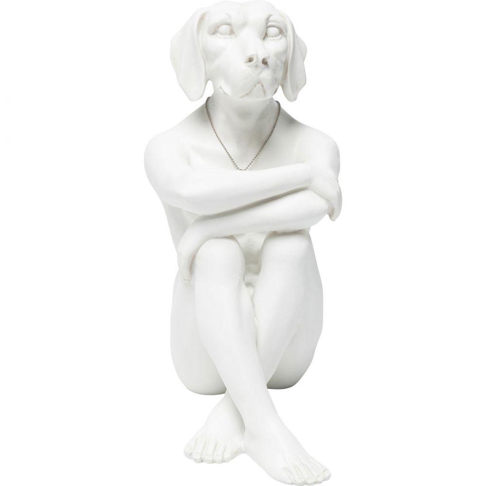 Deco Figurine Gangster Dog Creamwhite