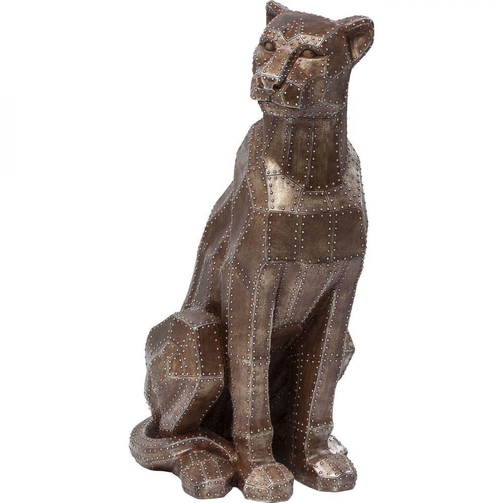 Deco Figurine Sitting Cat Rivet Copper