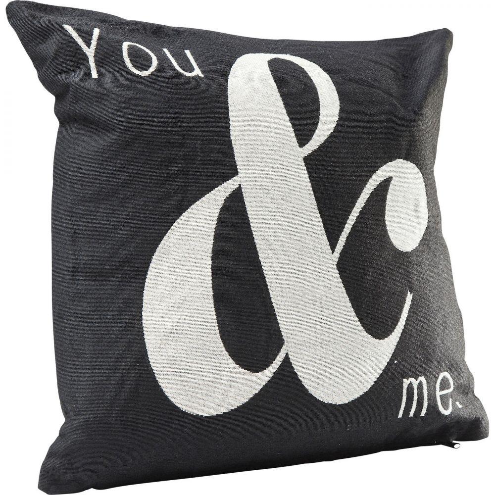 Cushion You And Me Black 45x45cm