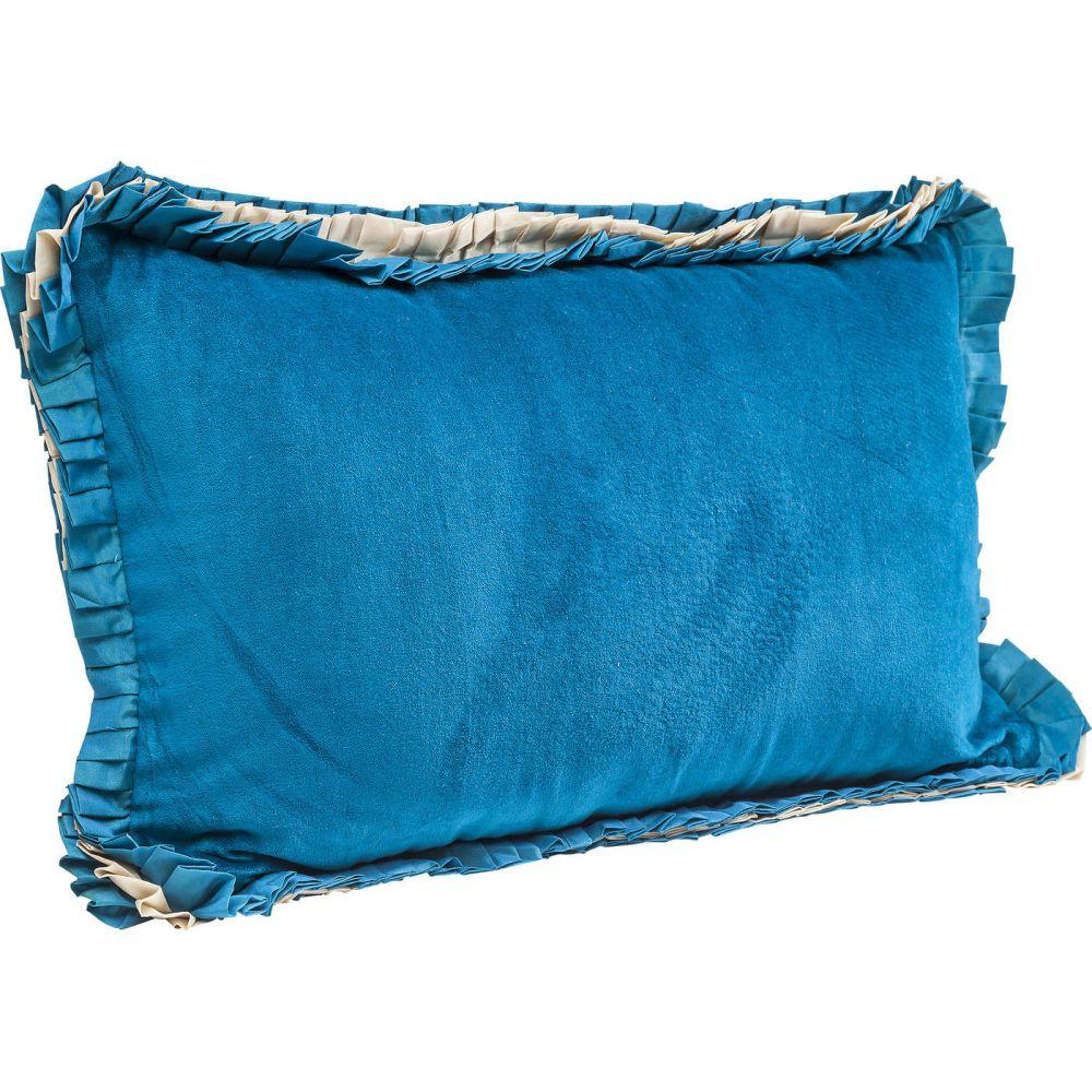Cushion Frill Uni Blau 30x50cm