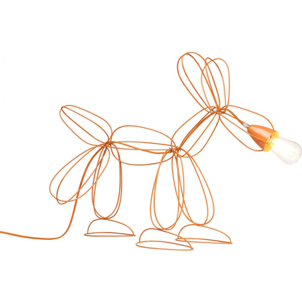 Table Lamp Dog Wire Orange (Excluding Bulb)