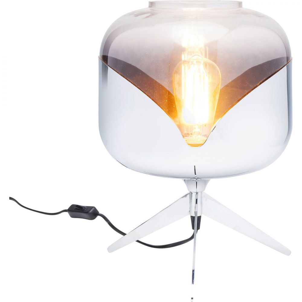 Table Lamp Chrome Goblet Ball (Excluding Bulb)