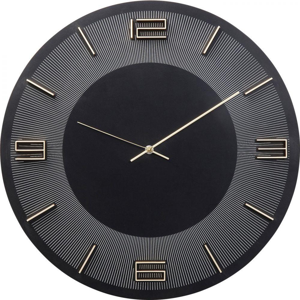Wall Clock Leonardo Black/Gold 50