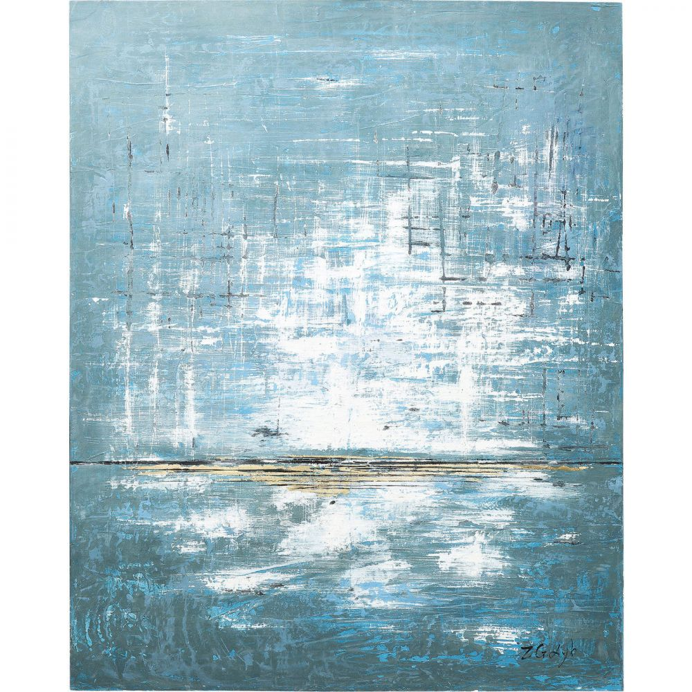 Oil Painting Abstract Blue One 150x120