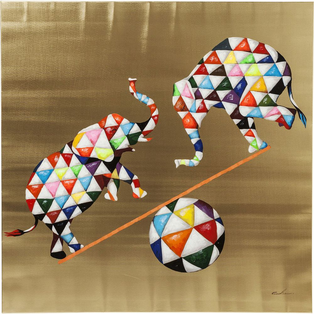 Picture Touched Circus Elefants 120x12