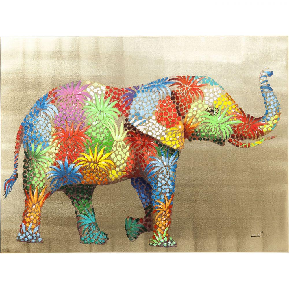 Picture Touched Flower Elefant 90x120c