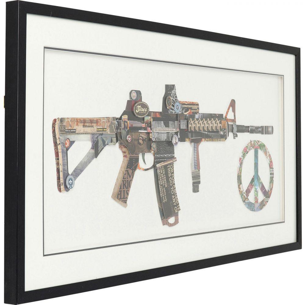 Picture Frame Art Peace No War 50x100cm