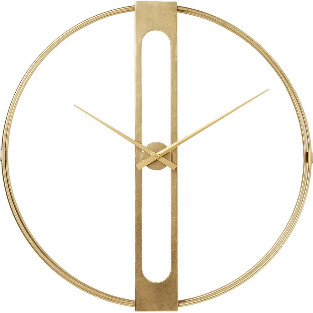 Wall Clock Clip Gold Ø107cm