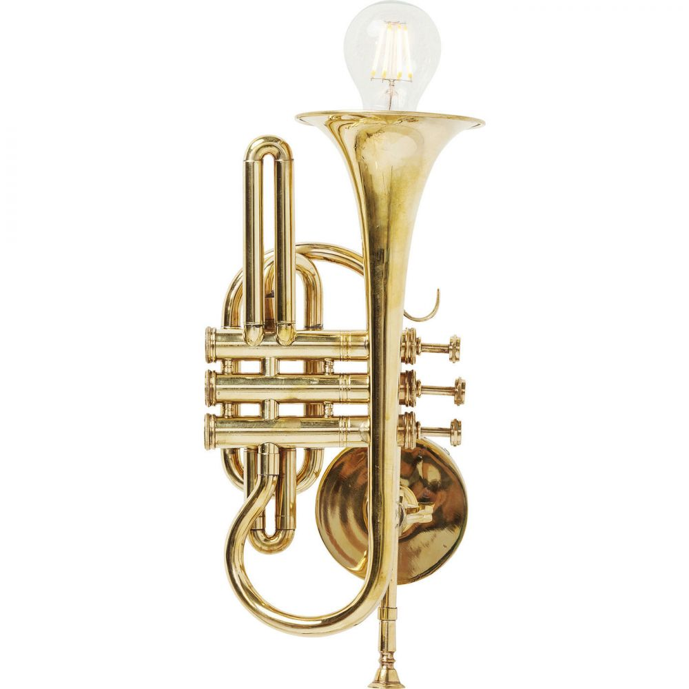 Wall Lamp Trumpet Jazz Gold (Excluding Bulb)