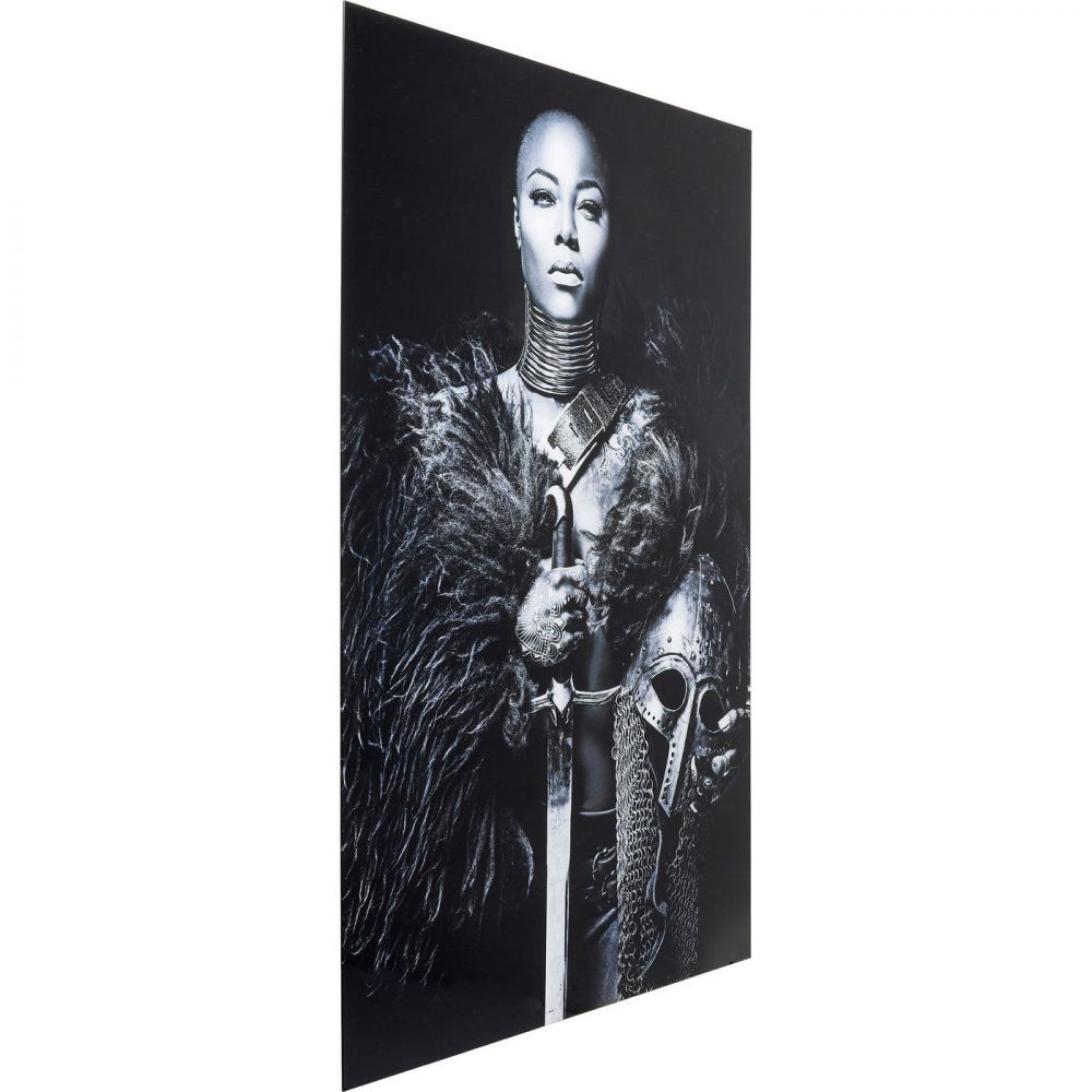 Picture Glass Lady Knight 150x100cm