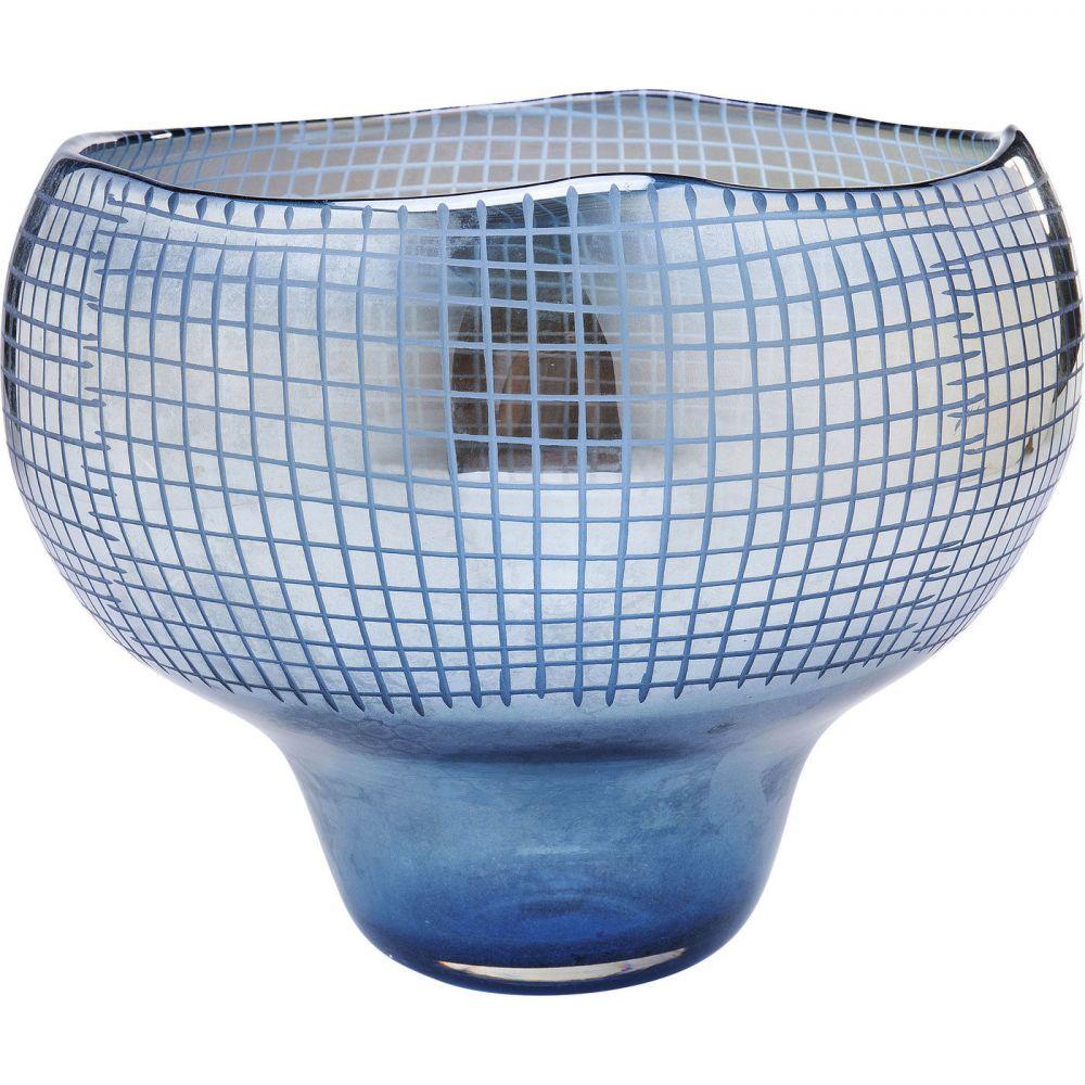 Vase Grid Luster Blue 28cm