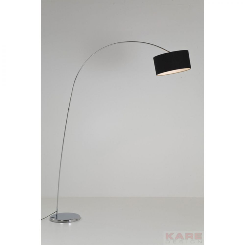 FLOOR LAMP GOOSENECK BLACK (EXCLUDING BULB)