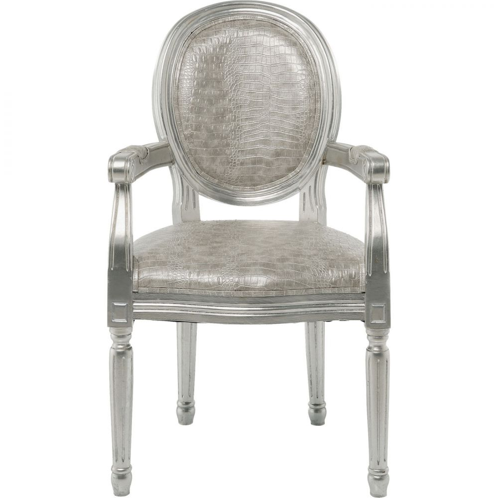 Chair with Armrest Louis Croco Antique