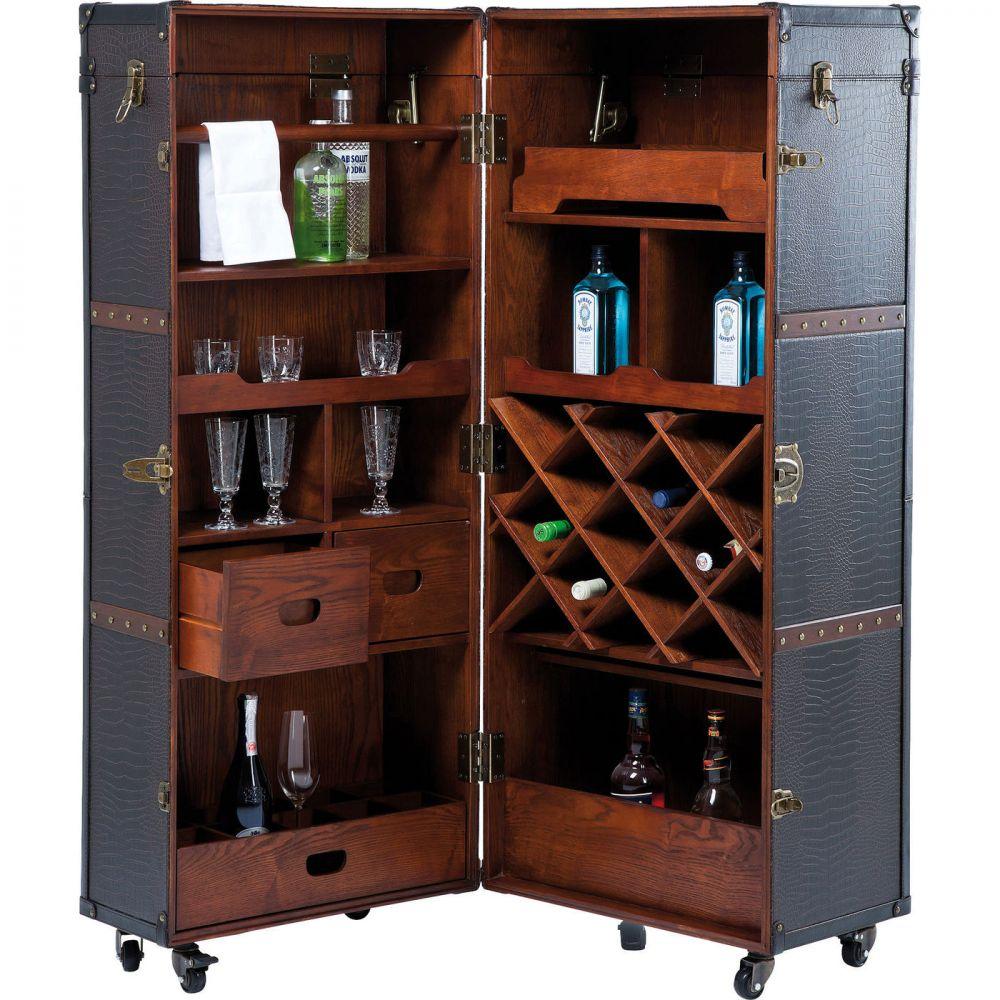 Wardrobe Trunk Bar Colonial