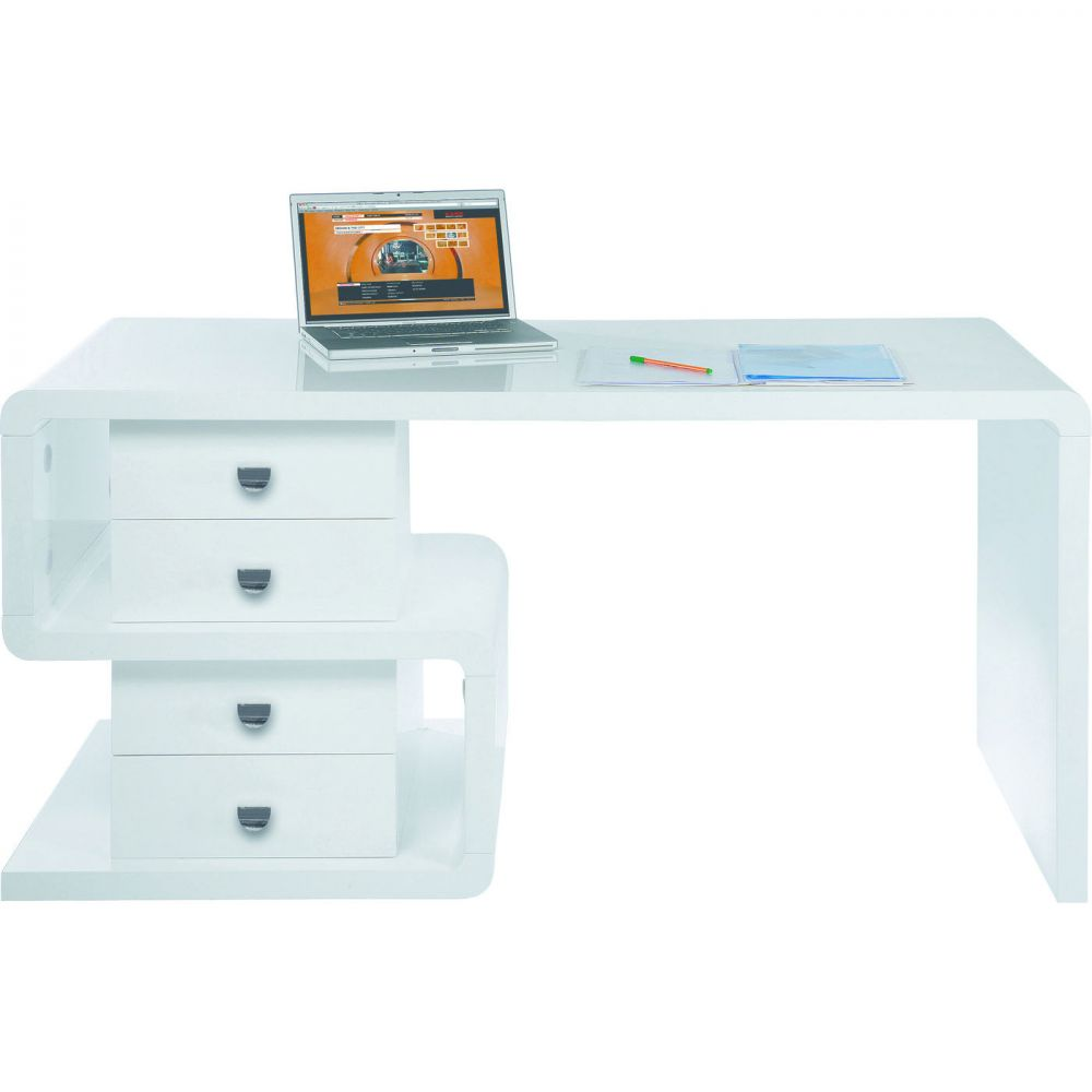 White Club Desk Snake 150x70cm