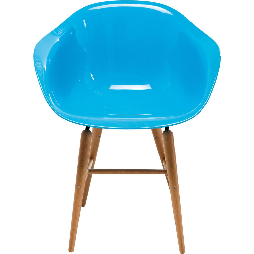 Chair with Armrest Forum Wood Blue