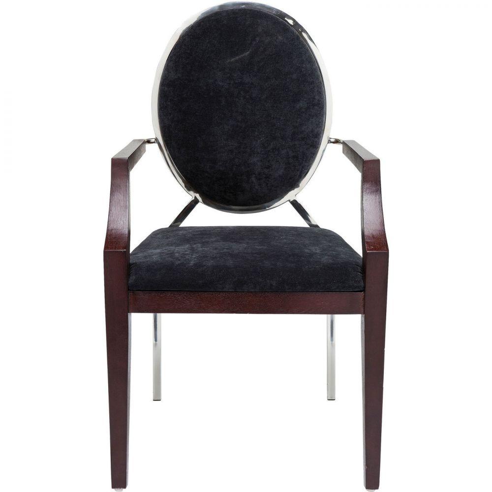 Chair with Armrest Medallion Black
