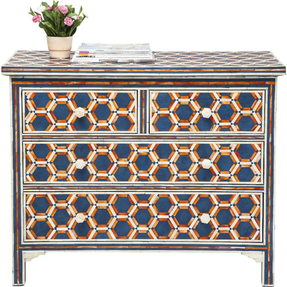 Dresser Honeycomp Blue 4 Drw