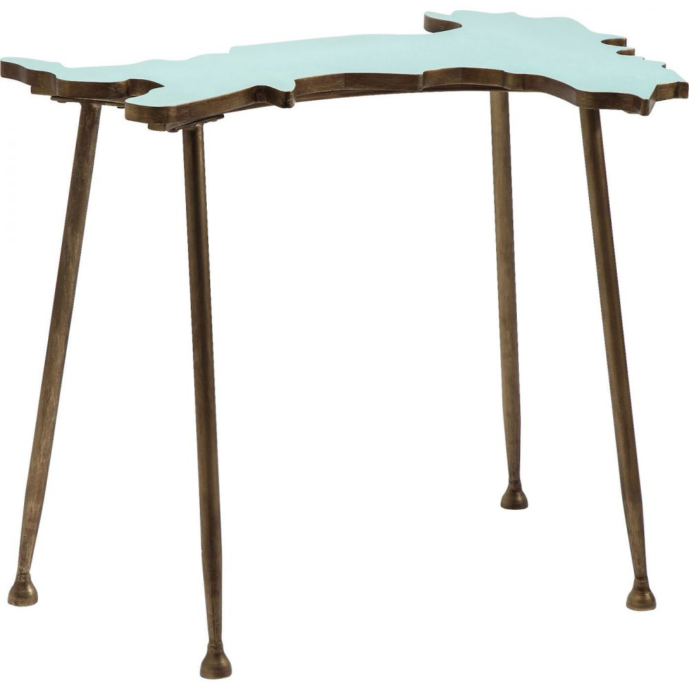 Side Table Italy Light Blue 76x61cm