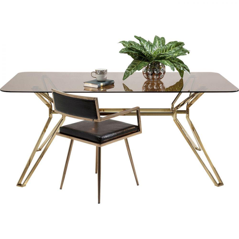 Table Garbo Gold Rectangular 180x90cm