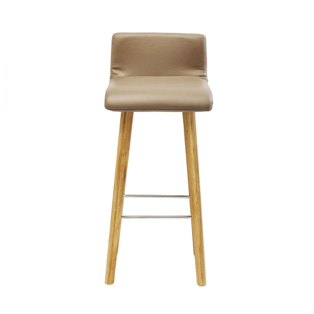 Bar Stool Levi Leather Taupe