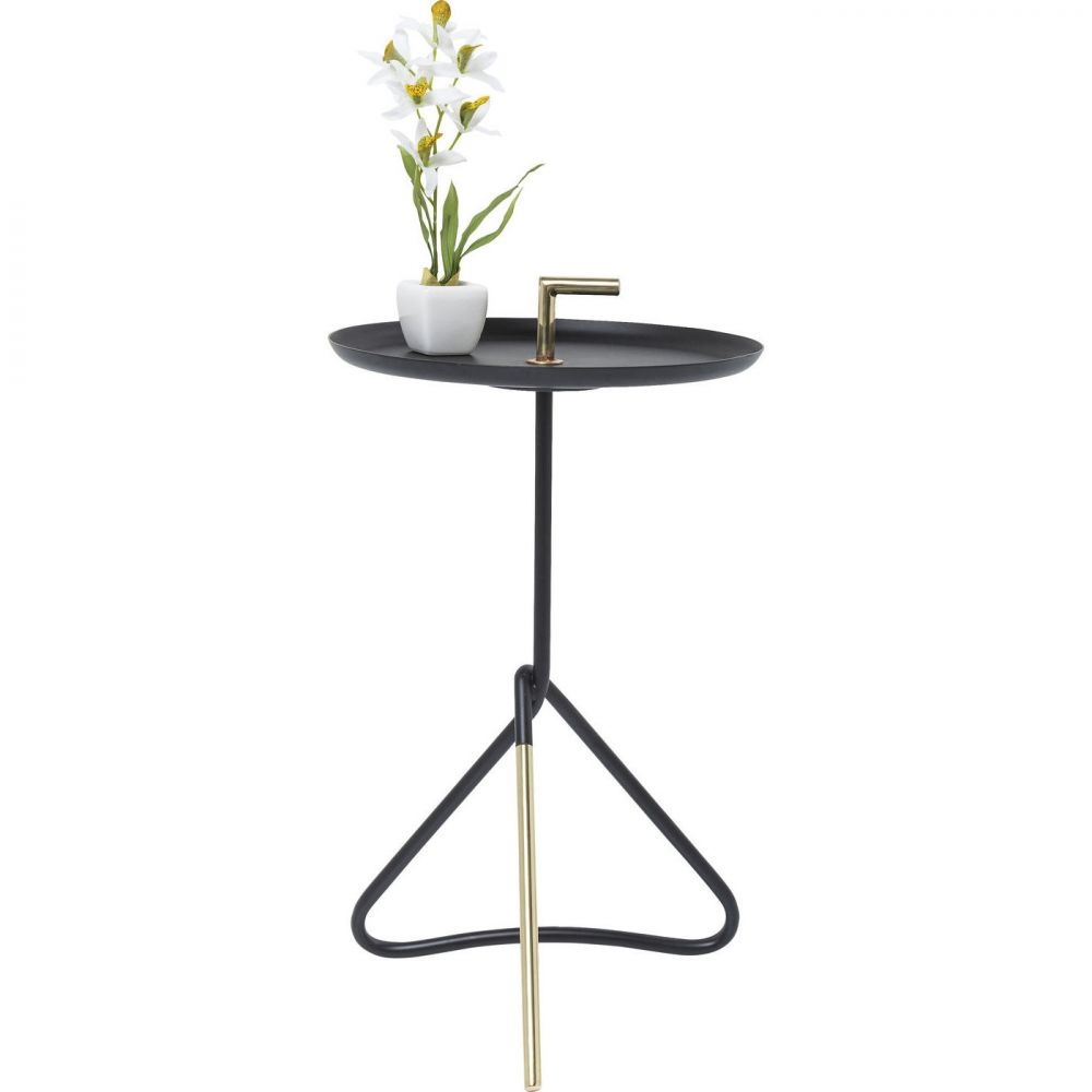 Side Table Elegance Nodo Black Ø30cm