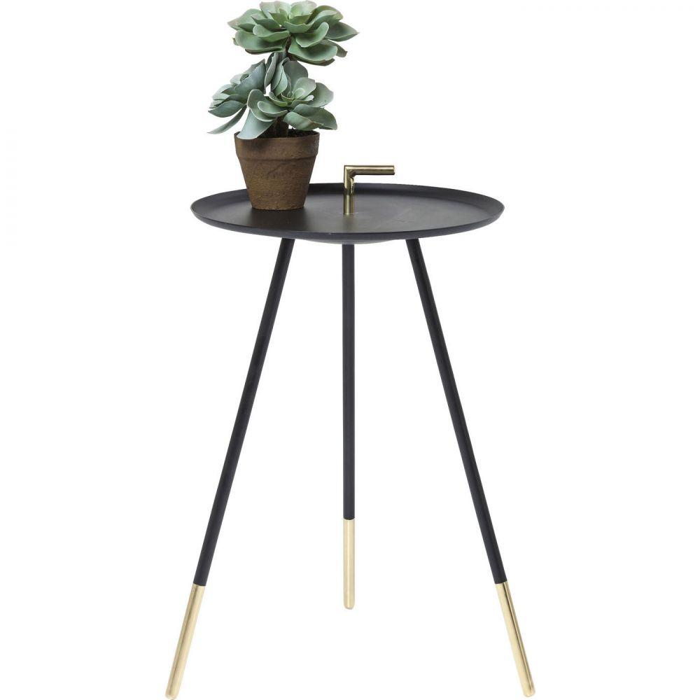 Side Table Elegance Trampolo Black Ø38