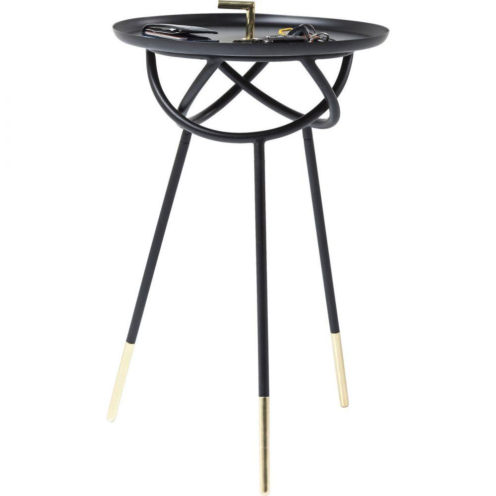 Side Table Elegance Atomo Black Ø41cm