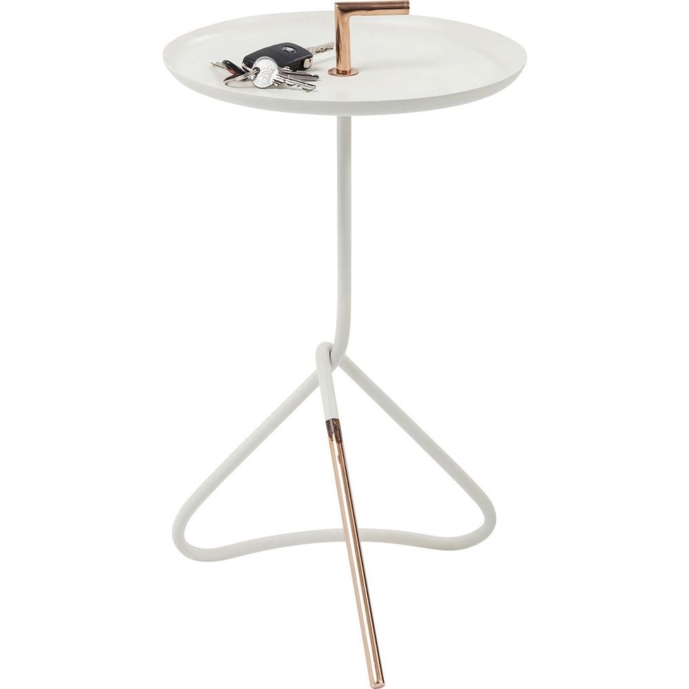 Side Table Elegance Nodo White Ø30cm